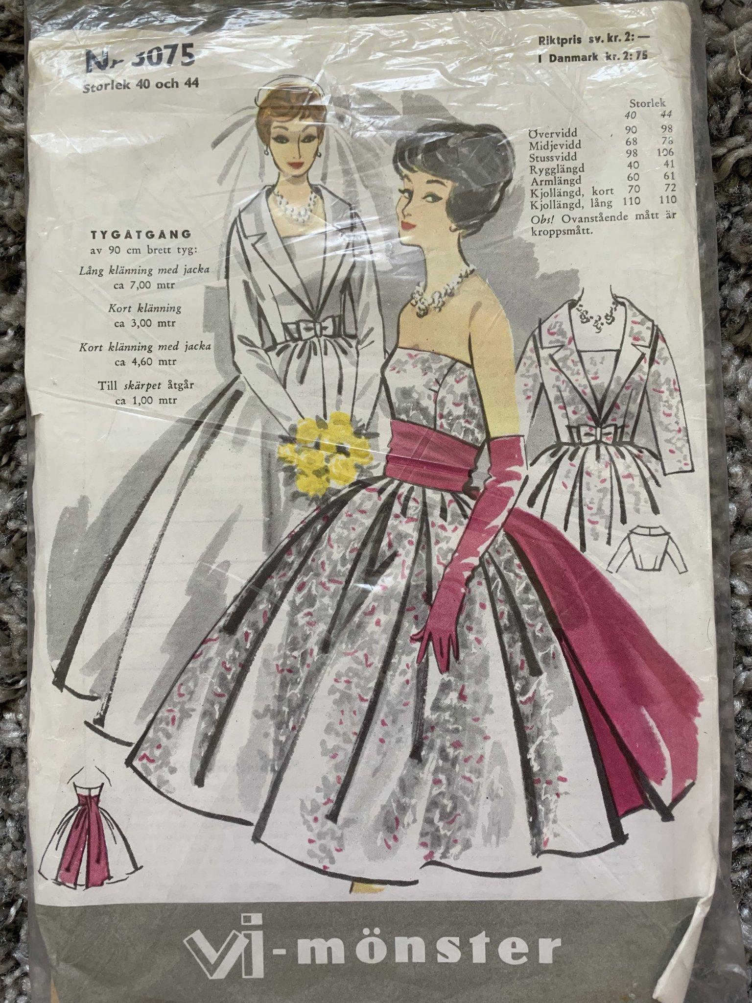 374fad6c20ae Symönster retro vintage Vi 50 60 tal klänning (351915309) ᐈ Köp på ...