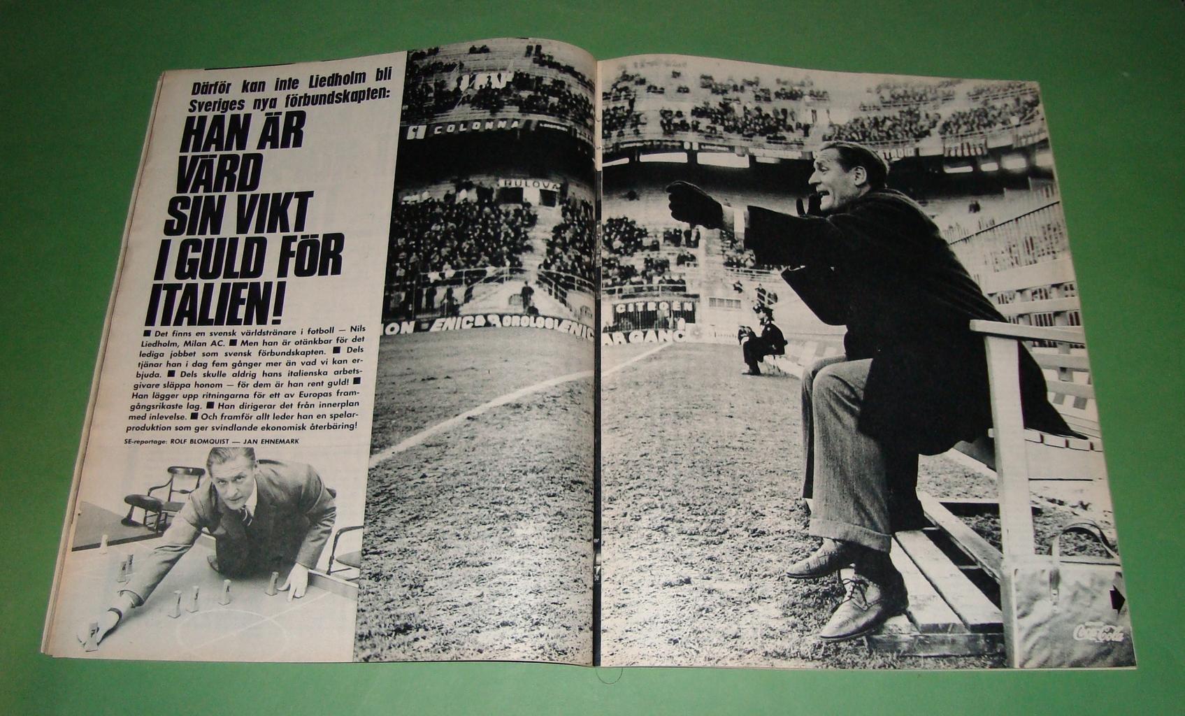 SE nr 49 1965 Nils Liedholm Siv Bärlund Las Vegas m m on