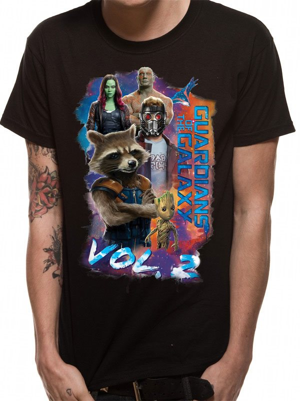 GUARDIANS OF THE GALAXY 2 - GROUP POSE (UNISEX)T-Shirt - Large