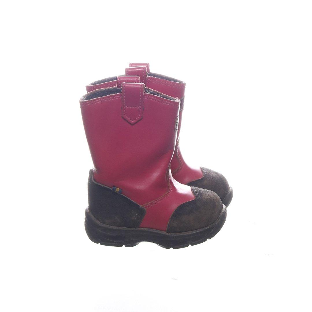 Kavat, Boots, Strl: 20, Rosa, Skinn