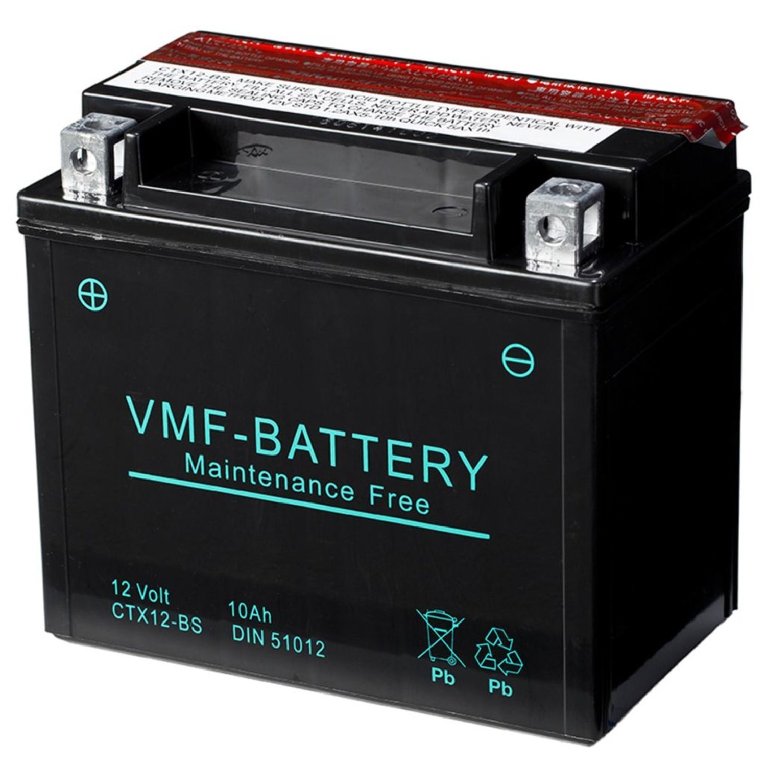 VMF Powersport Liquifix batteri 12 V 10 Ah MF YTX12-BS