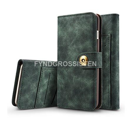 Läder Flip Plånbok Magnetisk 2 i 1 Fodral iPhone 5 5S SE - Grön Fri Frakt b1acc79c088d5