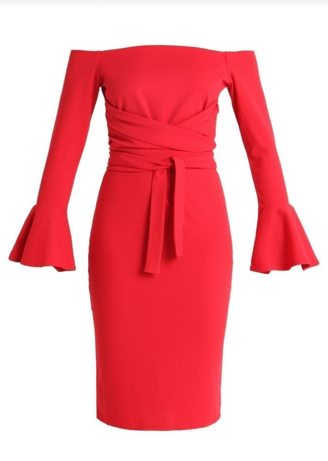 köpa röd klänning