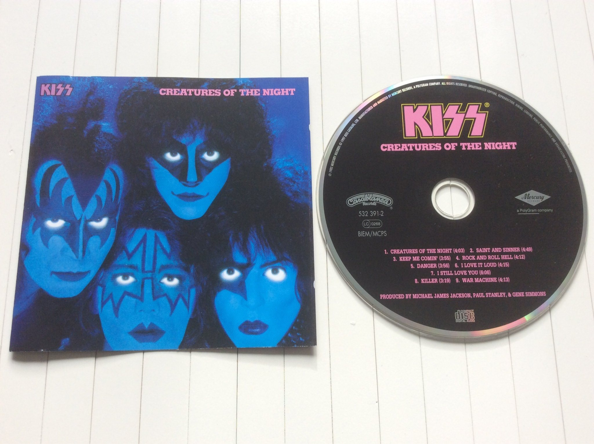 "Kiss CD "" creatures of the night "" Digitally Remastered"