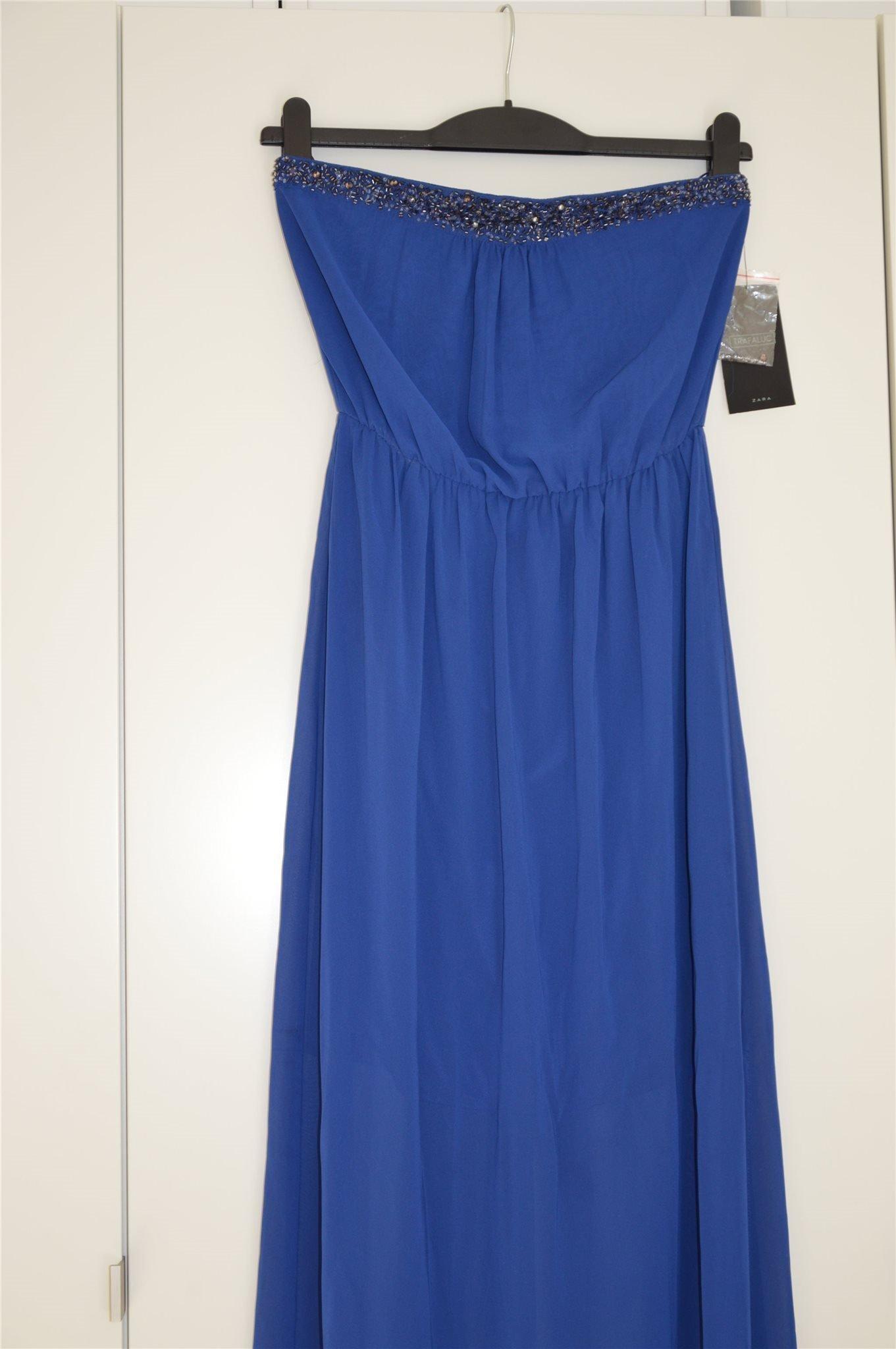 zara blå klänning