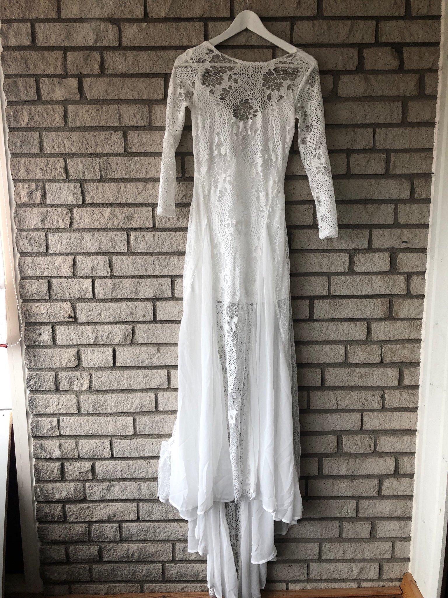 817f4ca5df08 Brudklänning spets boho (349816360) ᐈ Köp på Tradera