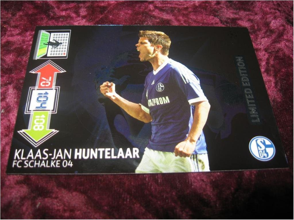 KLAAS-JAN HUNTELAAR-SCHALKE-LIMITED EDITION-UEFA CHAMPIONS LEAGUE 2012/2013