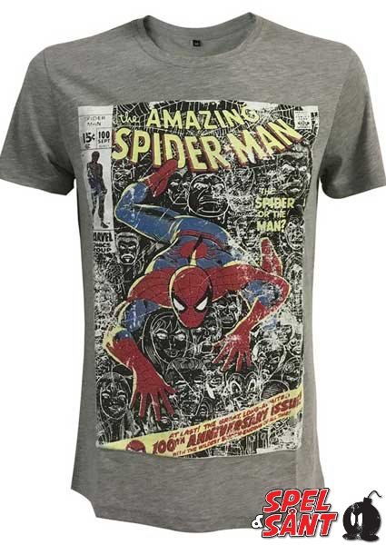 Marvel Amazing Spider-Man T-Shirt Grå (X-Large)