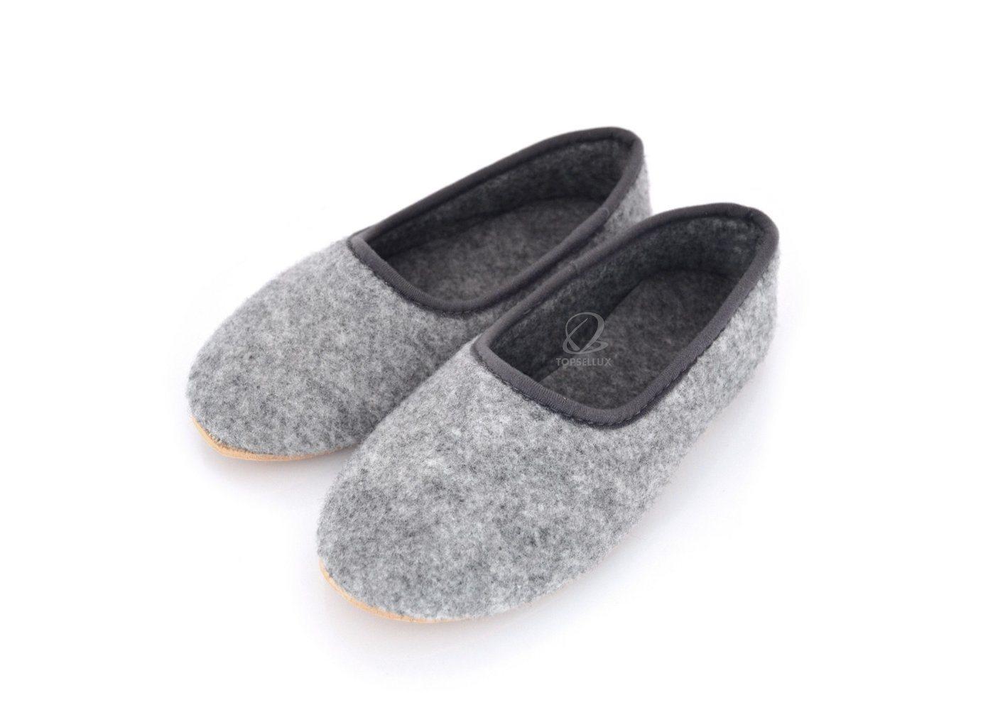 2518dd5b3bdf Nya filt unisex dam herr tofflor mockasiner skor varm grå inneskor toffel  stl 44 ...