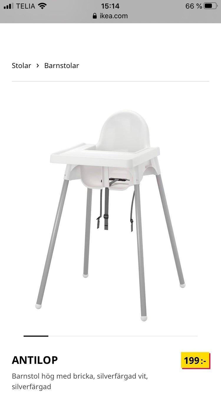 Antilop barnstol från IKEA