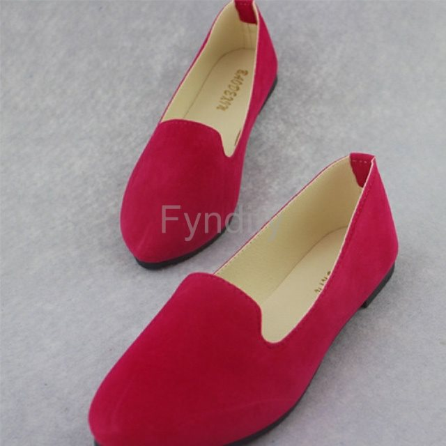 röda loafers dam