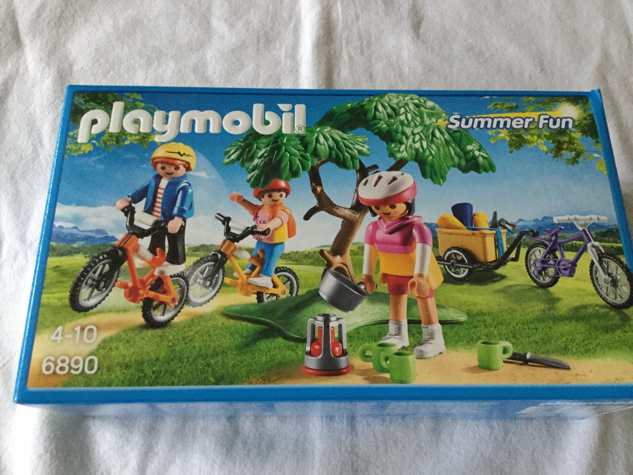 NYTT - Playmobil - Mountainbiketur med vagn 6890