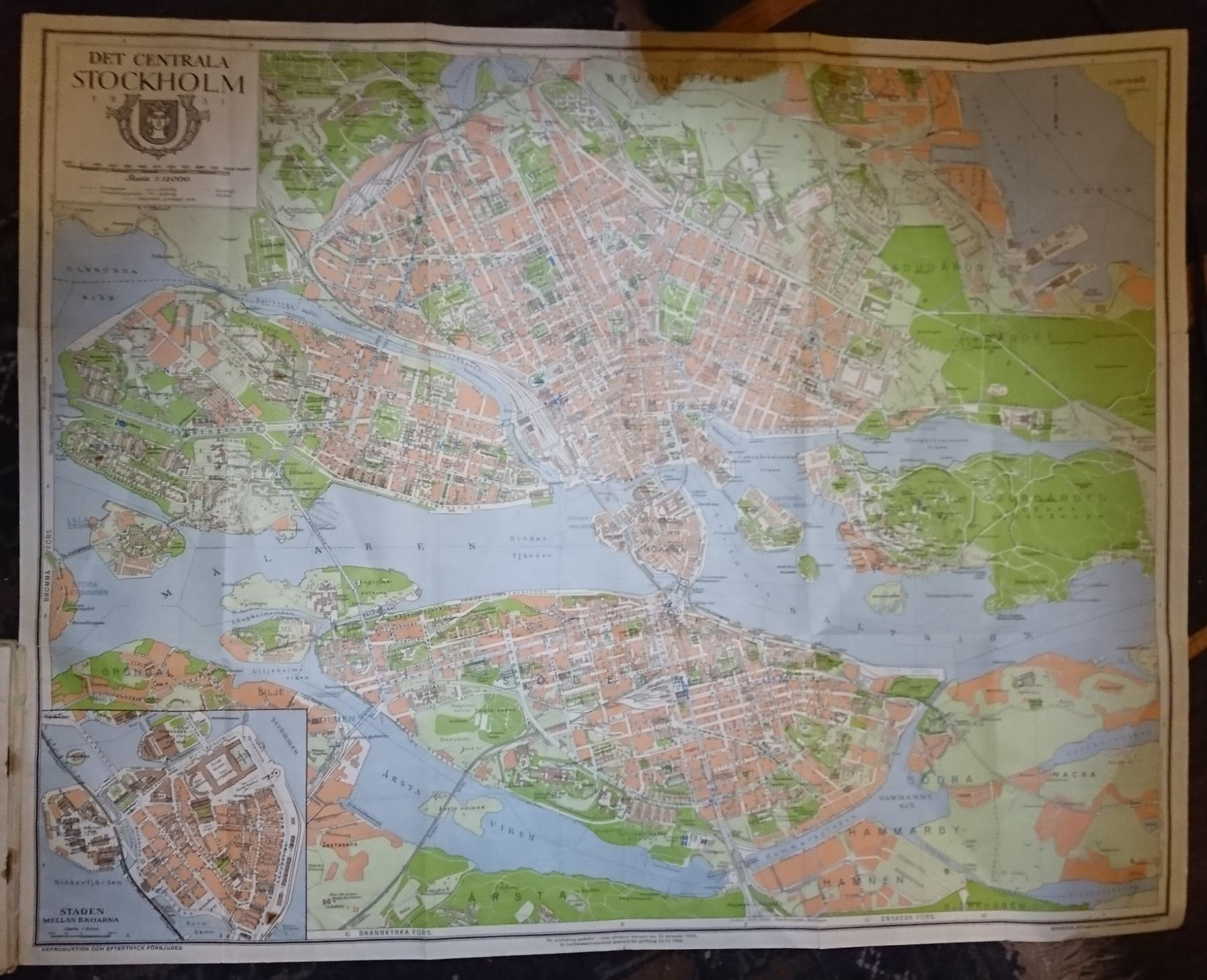 Storre Snygg Karta Over Stockholms Innerstad 1 377927943 ᐈ