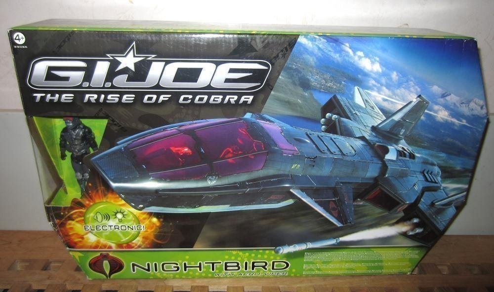 G.I. Joe - The Rise Of Cobra Nightbird Flygplan + Figur