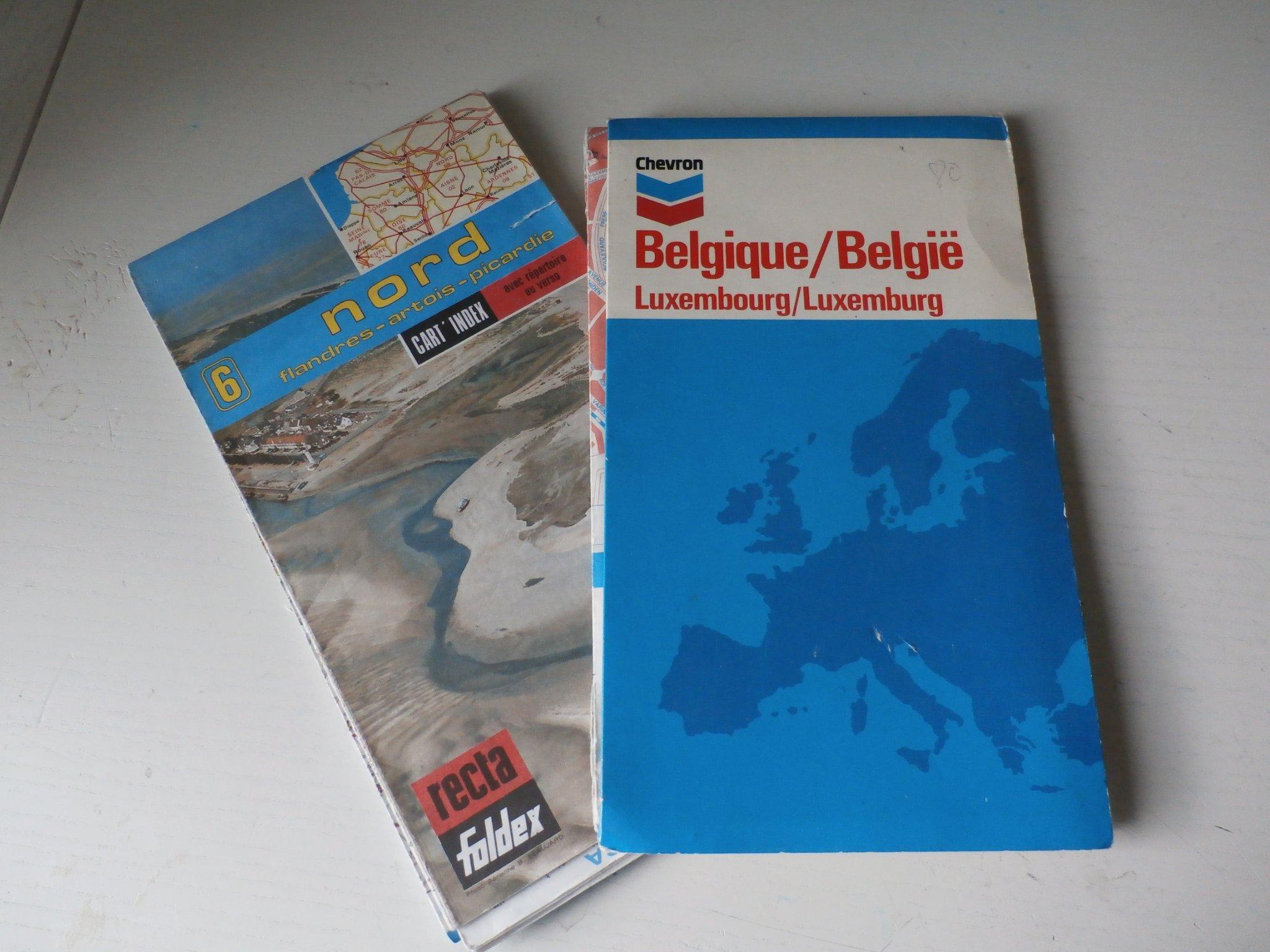 2 Aldre Bilkartor Belgien Och Nordostra Frankri 407541690 ᐈ Kop Pa Tradera