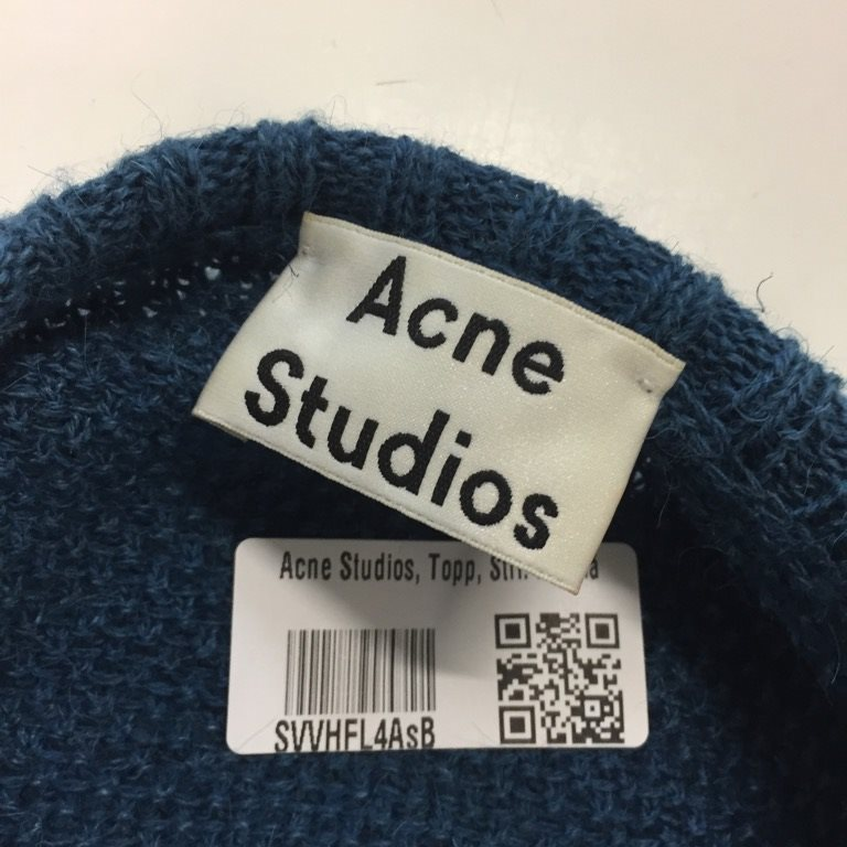 Acne Studios, Studios, Studios, Topp, Strl: M, Blå 85908b