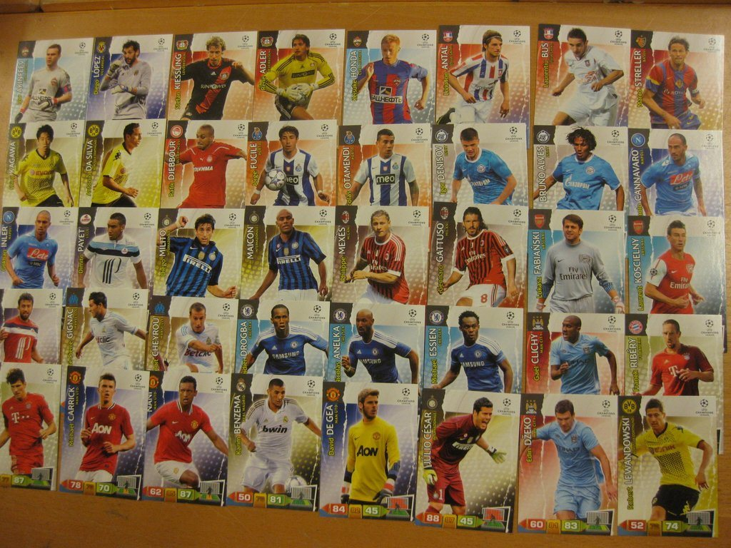 40 ST FOTBOLLSKORT - LOT 1 - PANINI ADRENALYN CHAMPIONS LEAGUE 2011-2012