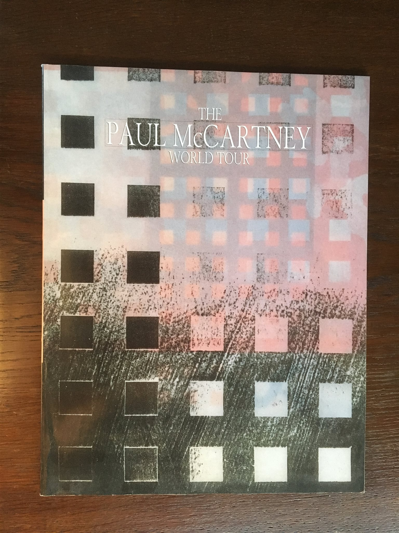Paul McCartney The World Tour 1989 Turnéprogram