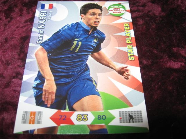 SAMIR NASRI-FRANKRIKE(FRANCE)-STAR PLAYER-ROAD TO 2014 FIFA WORLD CUP BRAZIL