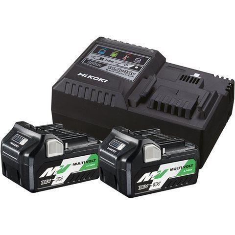 Laddpaket HiKOKI med med med 2st MULTI VOLT 18V/36V batterier och laddare. 7d77cd