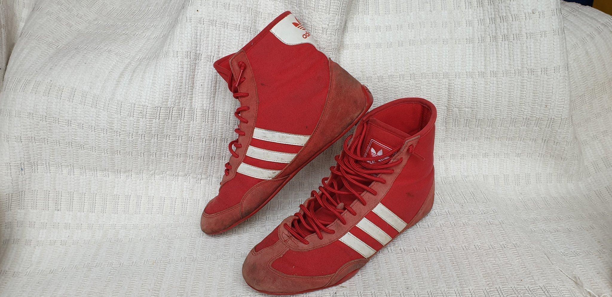 ebb035bfb0c Vintage adidas känga sko storlek 40 2/3 (353659574) ᐈ Köp på Tradera