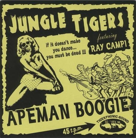 Jungle Tigers feat. Ray Campi Apeman Boogie EP - 7""