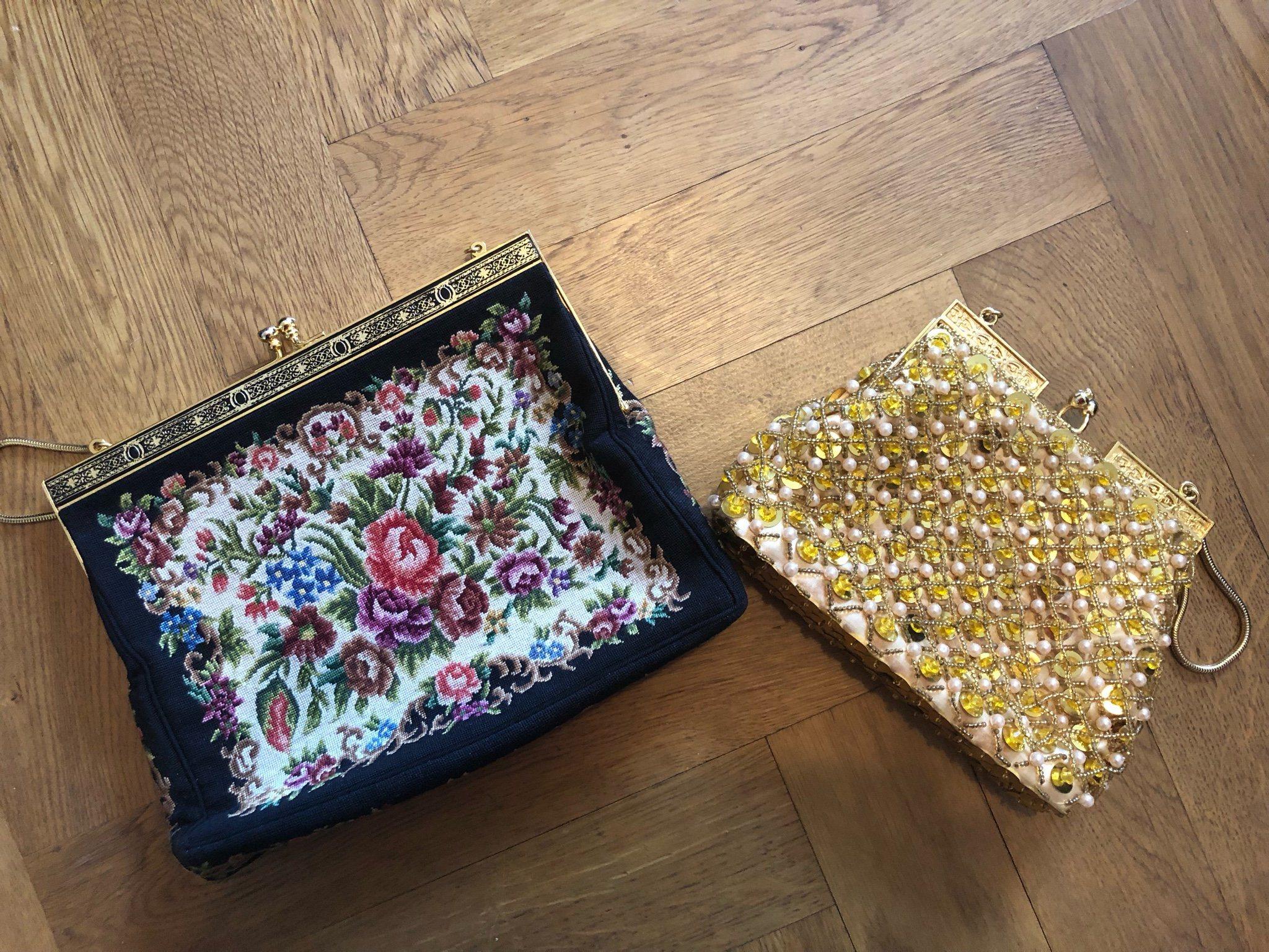 d453ff0c53e5 Två väskor vintage 20-tal en guld och en brod.. (342857153) ᐈ Köp ...