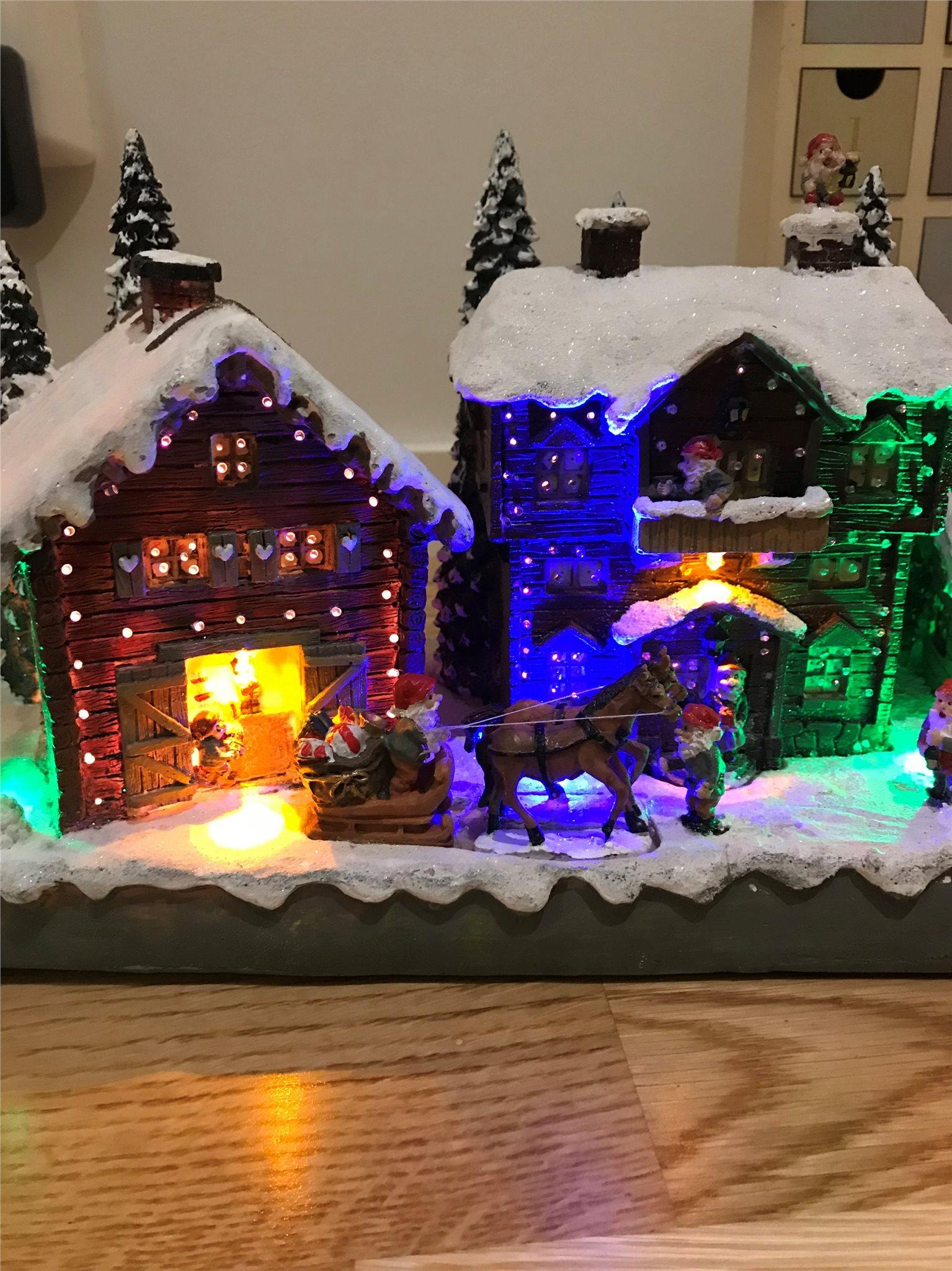julstad med belysning