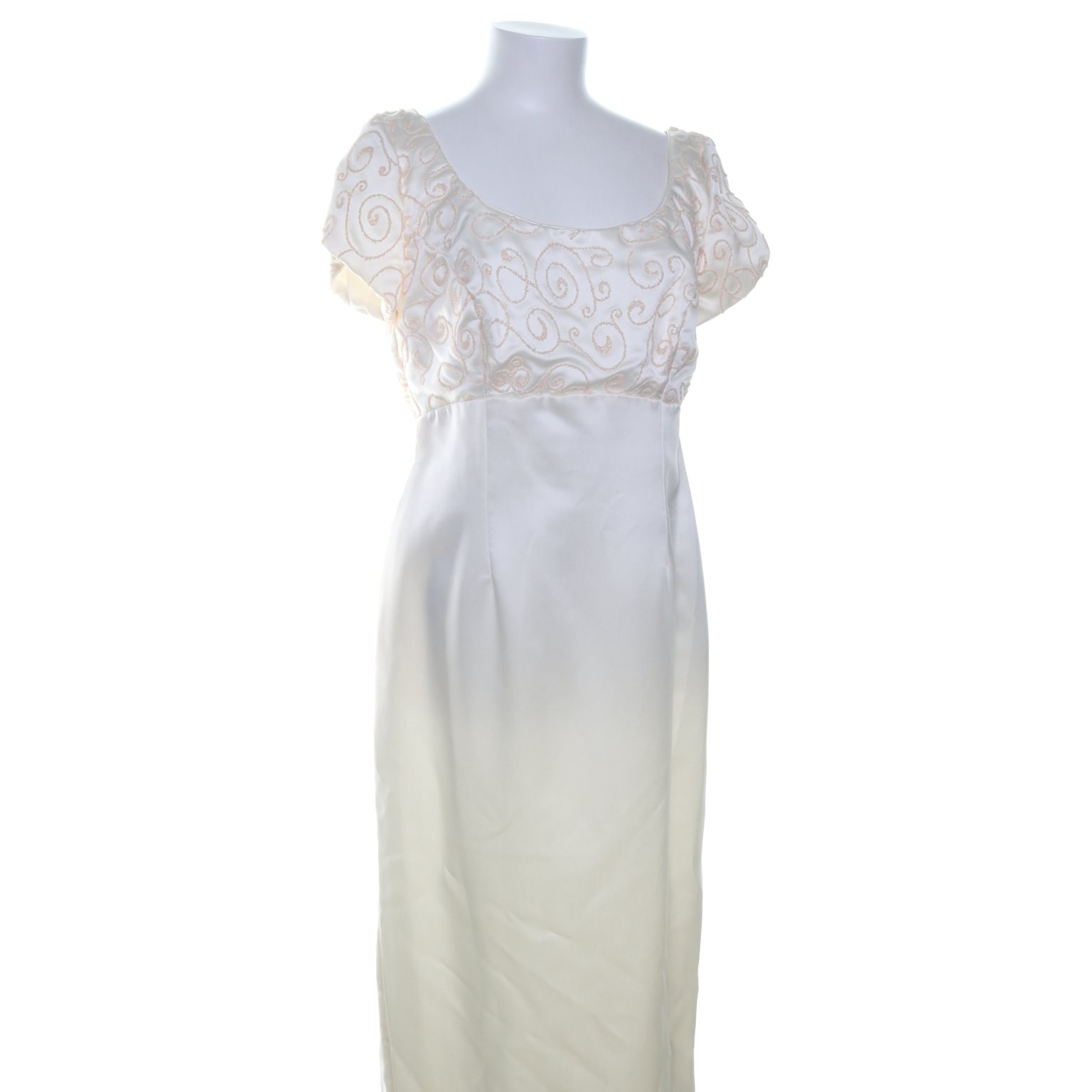 Brudklänning, Strl: 2XL, 1936, Beige/Vit
