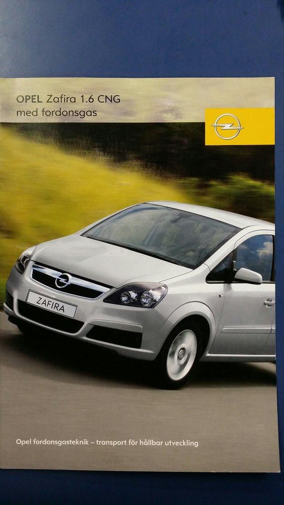Opel Zafira 16 Cng 2006 Broschyr 276028227 Kp P Tradera