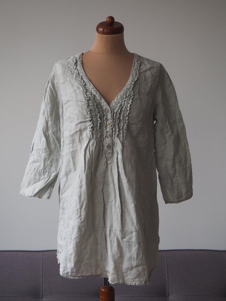 Culture linne tunika blus skjorta linen boho boheme hippie retro romantisk L f724d12097813