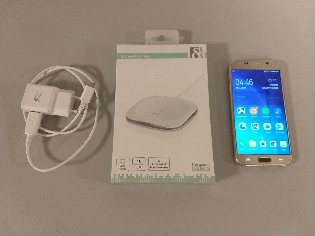 Samsung s8+,olåst +qi laddare