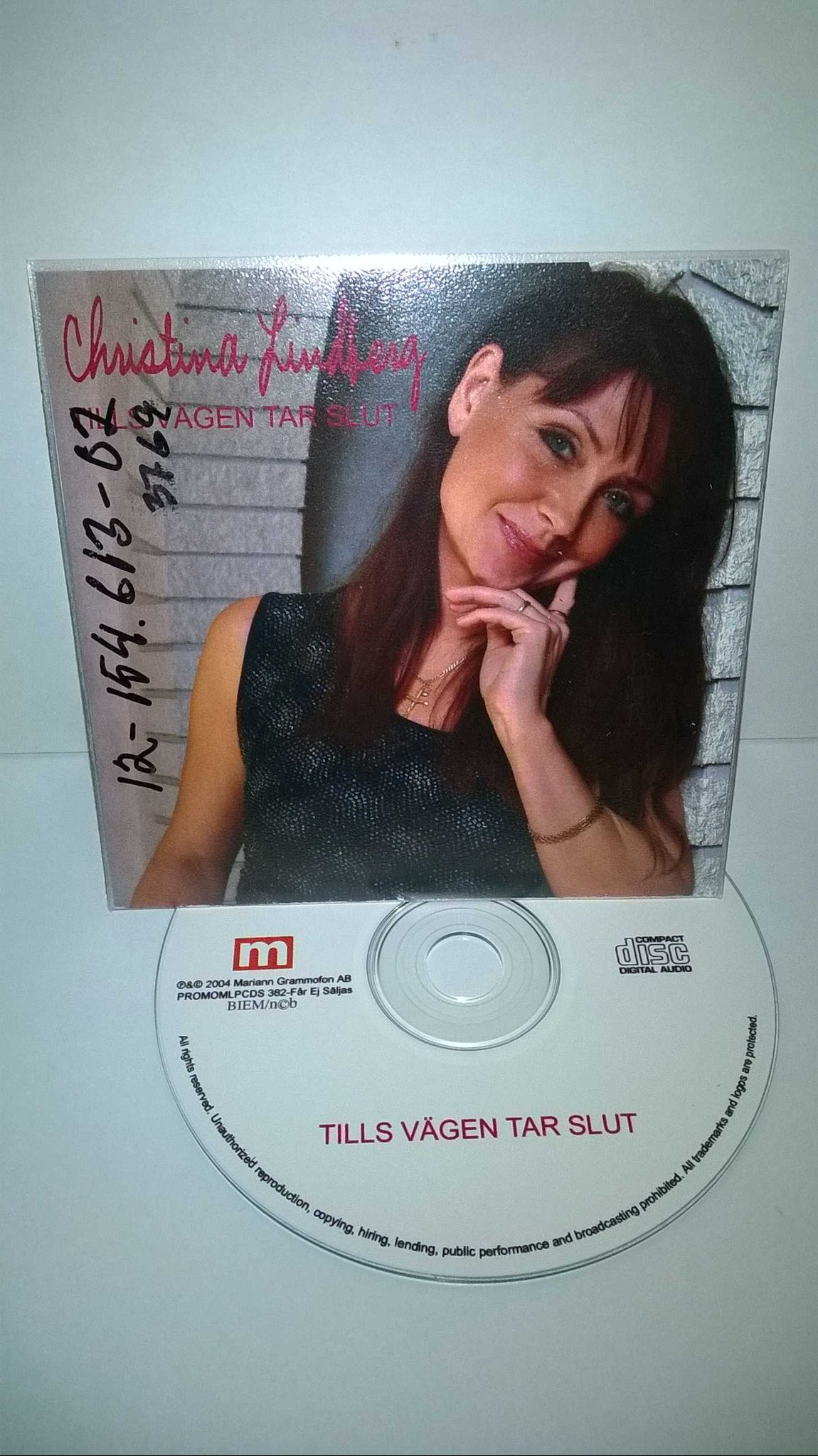 Christina Lindberg - Tills vägen tar slut , single CD, rare!