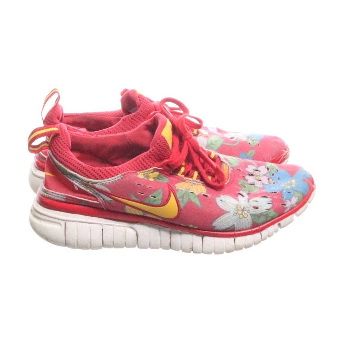 nike blommiga sneakers