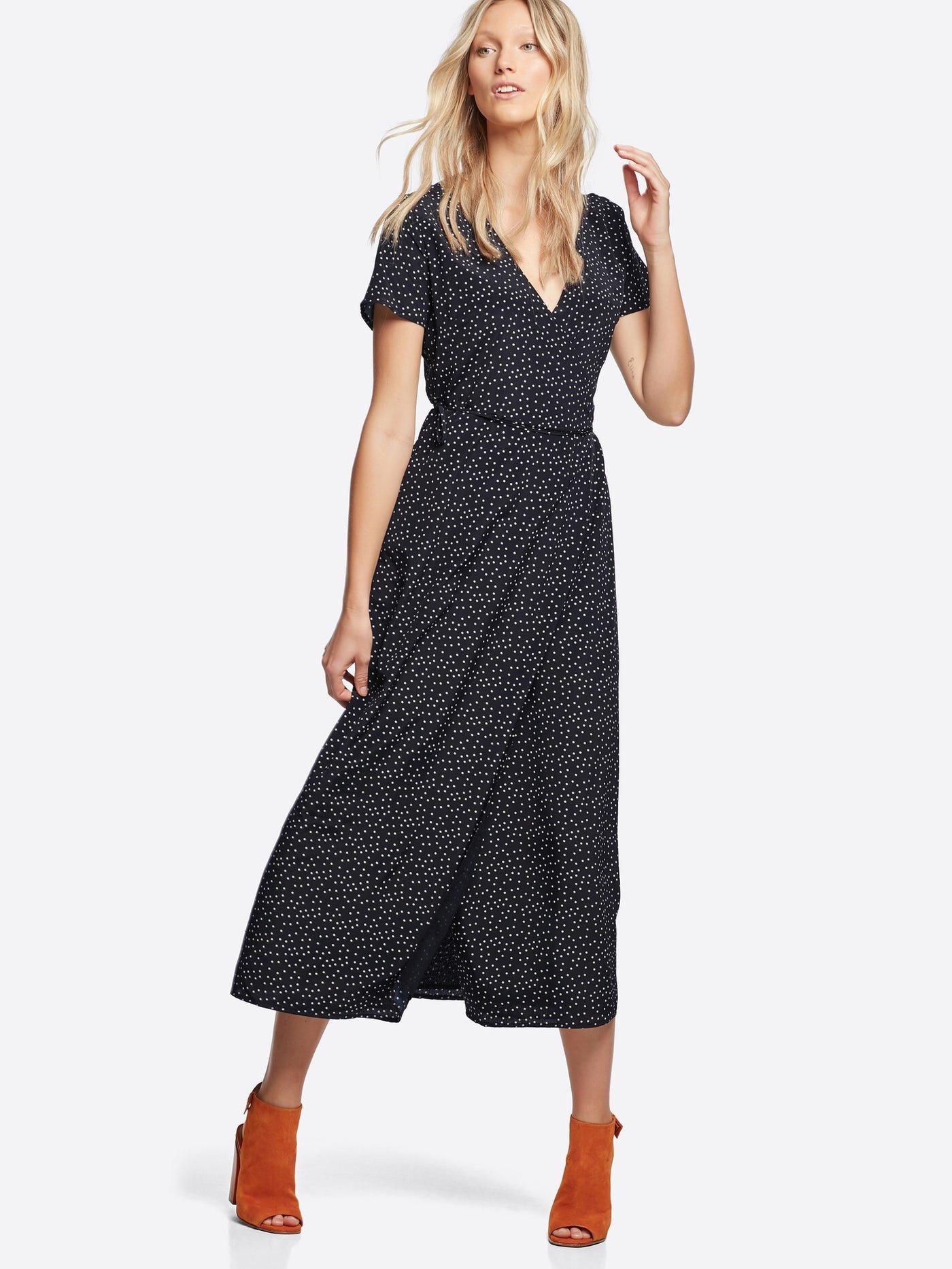 Willow omlottklänning | 7217183 | Svart | Cubus | Sverige