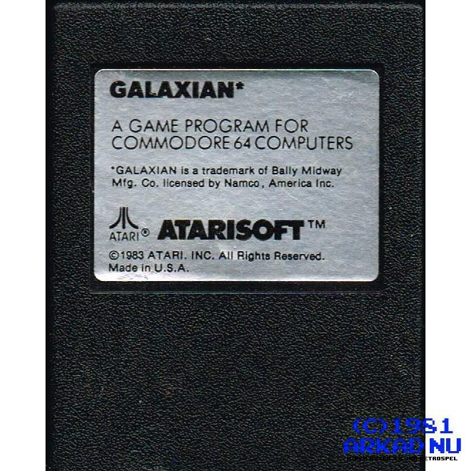 GALAXIAN C64 CARTRIDGE COMMODORE 64