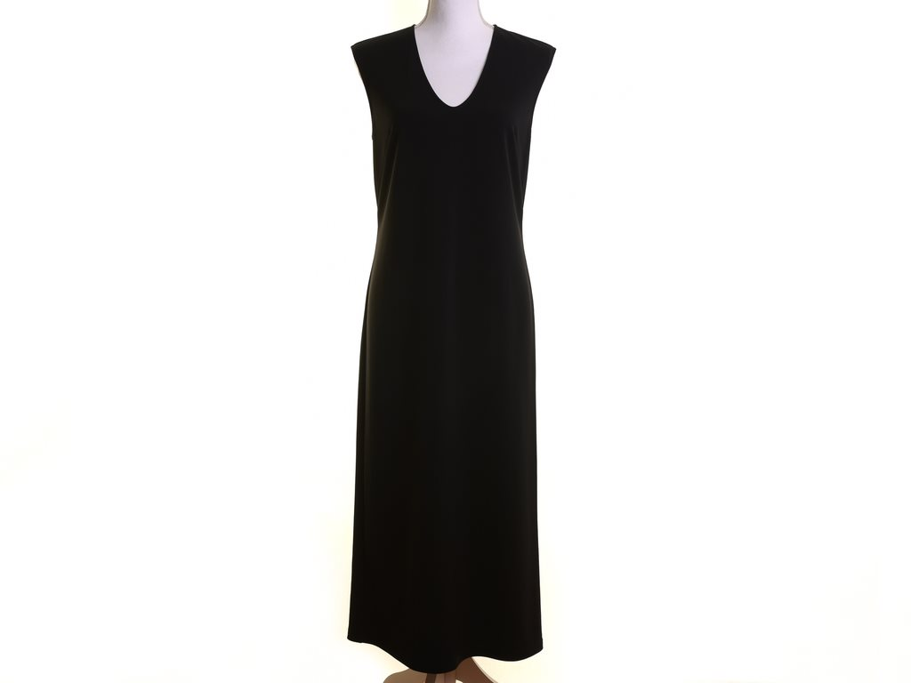 NY, Filippa K, stl S, Klänning, dam, svart, U-neck tracetate Dress, ordpris 2500
