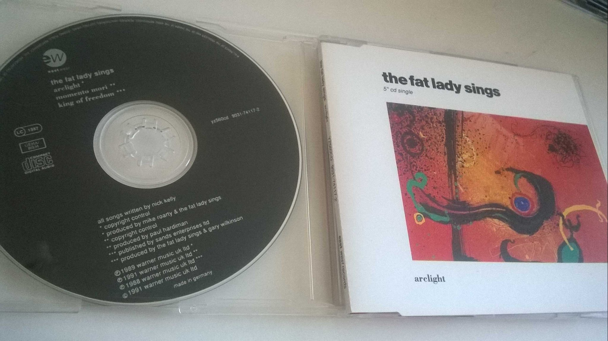 The Fat Lady Sings - Arclight, CD, Single