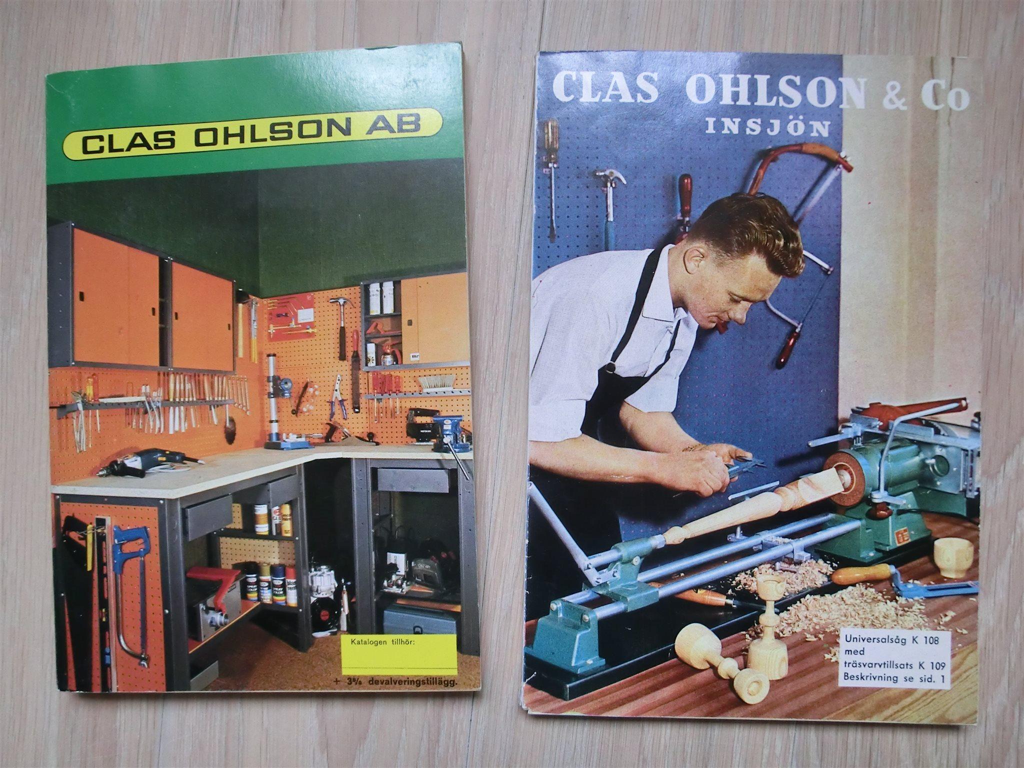 2 stäldre Clas Ohlsson& Co Insjön kataloger på Tradera com