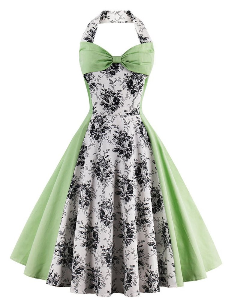 grön rockabilly klänning