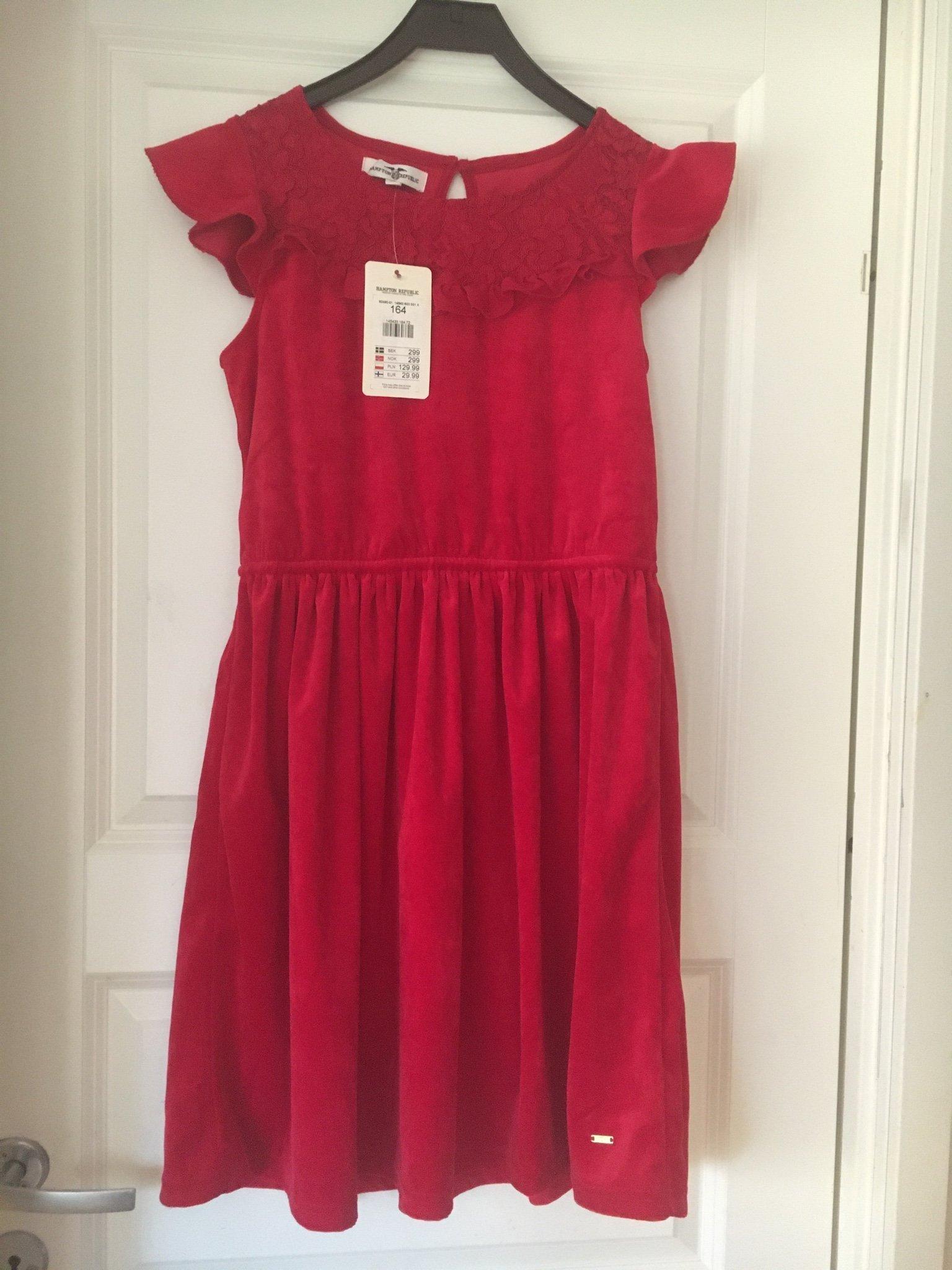 LINDEX småblommig klänning stl 164 Helt ny!
