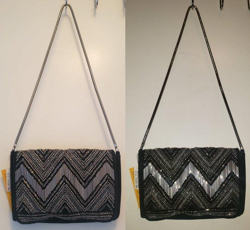 svart silver Aftonväska paljett stilig smakfull röda mattan grå glittrig väska