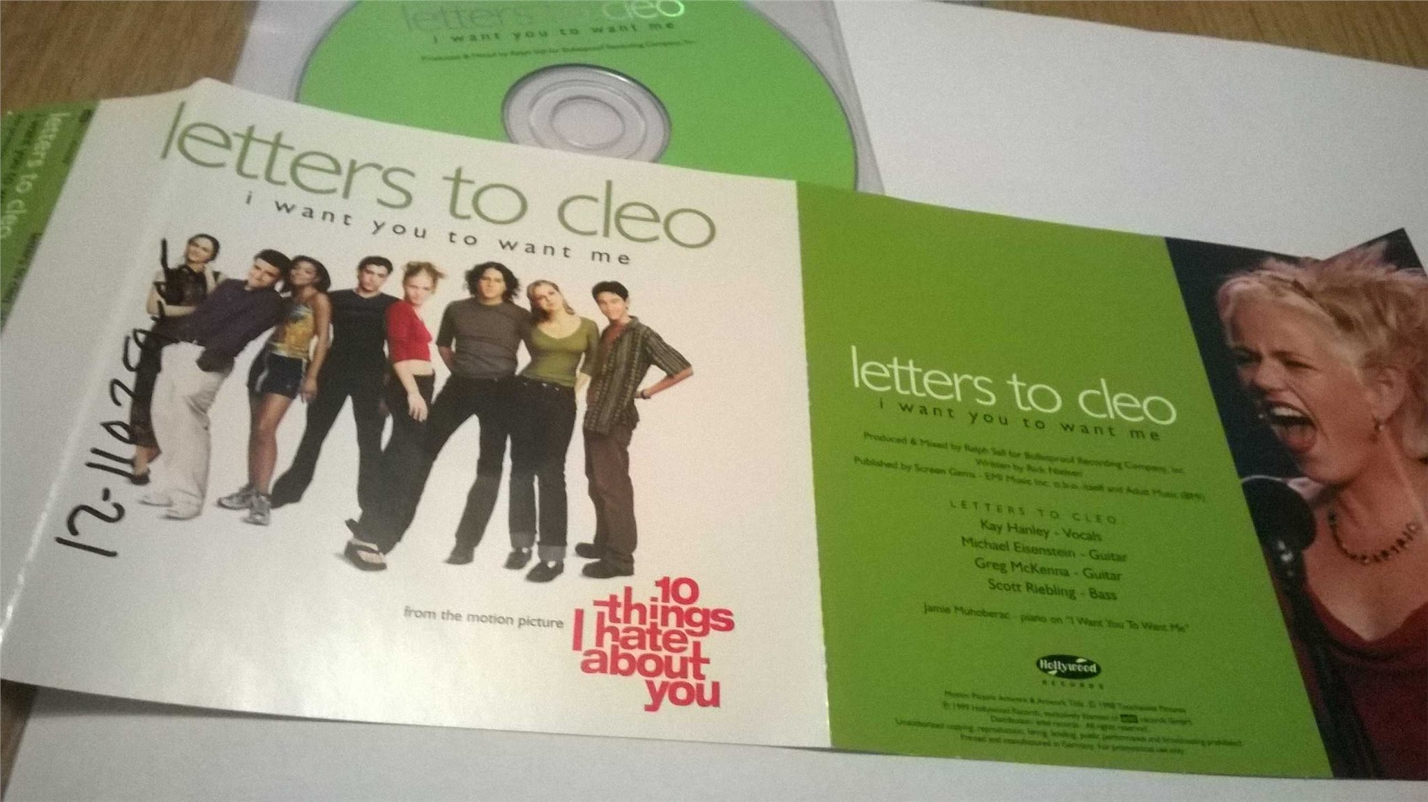 Letters To Cleo - I Want You To Want Me, single CD, promo