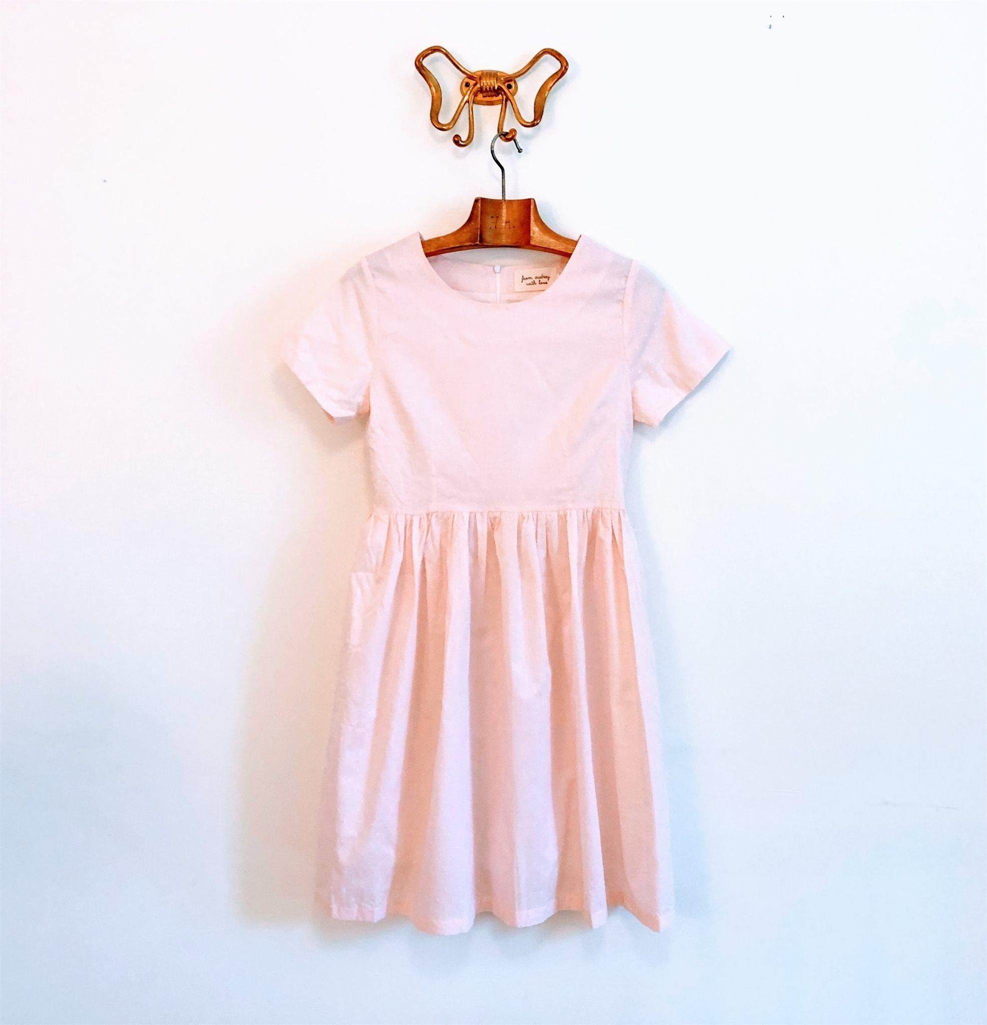 Klänning bomullsklänning ljusrosa med prickar s.. (340385043) ᐈ Köp ... f6940f0f1daa6