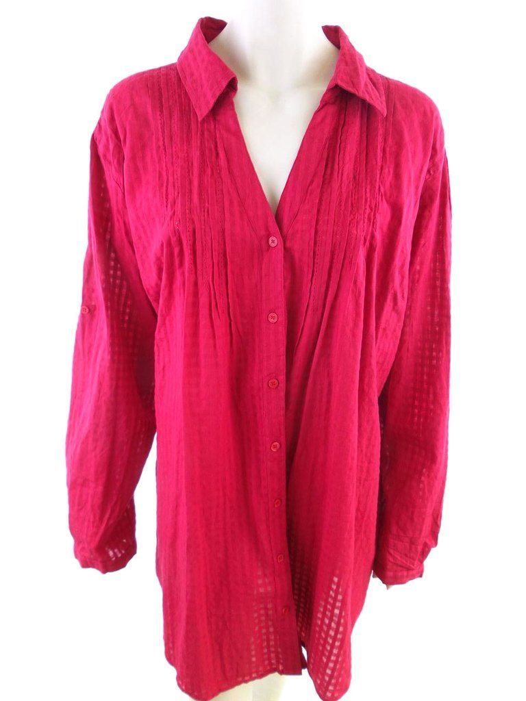 Vintage Elegant Skjorta Storlek 26 (54) Rosa 100% Bomull