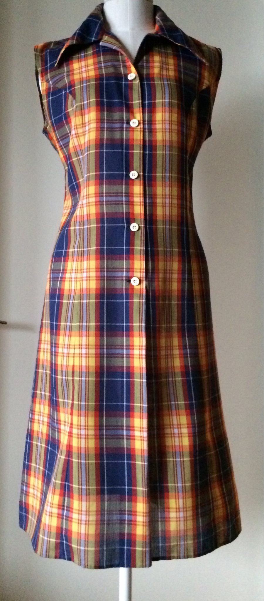 0fb4fc96c851 Vintage retro klänning storlek 42/M från DACRON (336435083) ᐈ Köp ...