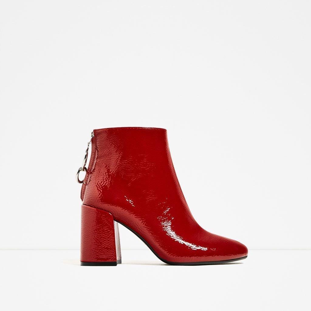 Röda boots, Zara strl 38! Nyskick! (392509412) ᐈ Köp på
