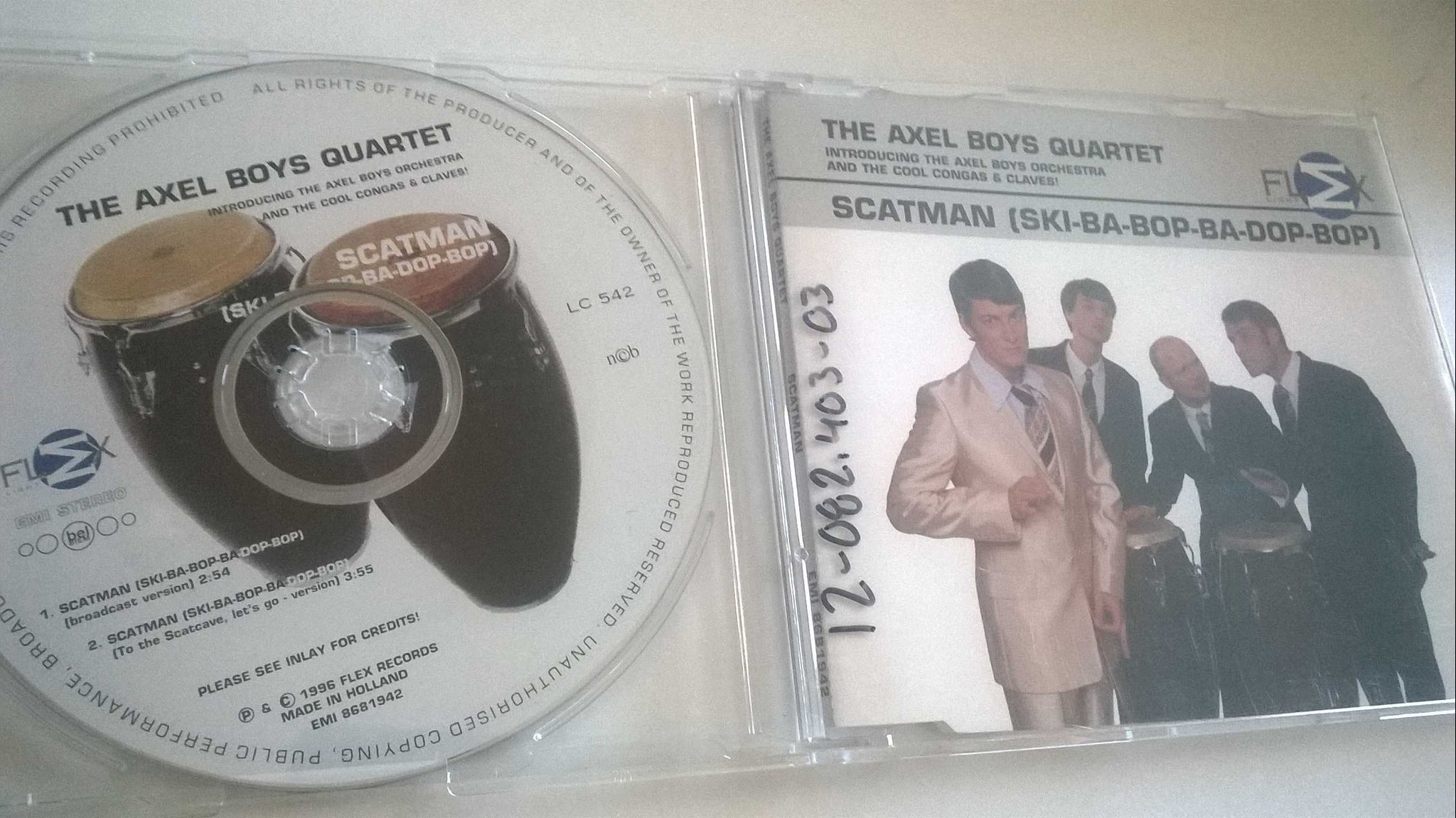 The Axel Boys Quartet - Scatman (Ski-Ba-Bop-Ba-Dop-Bop), CD