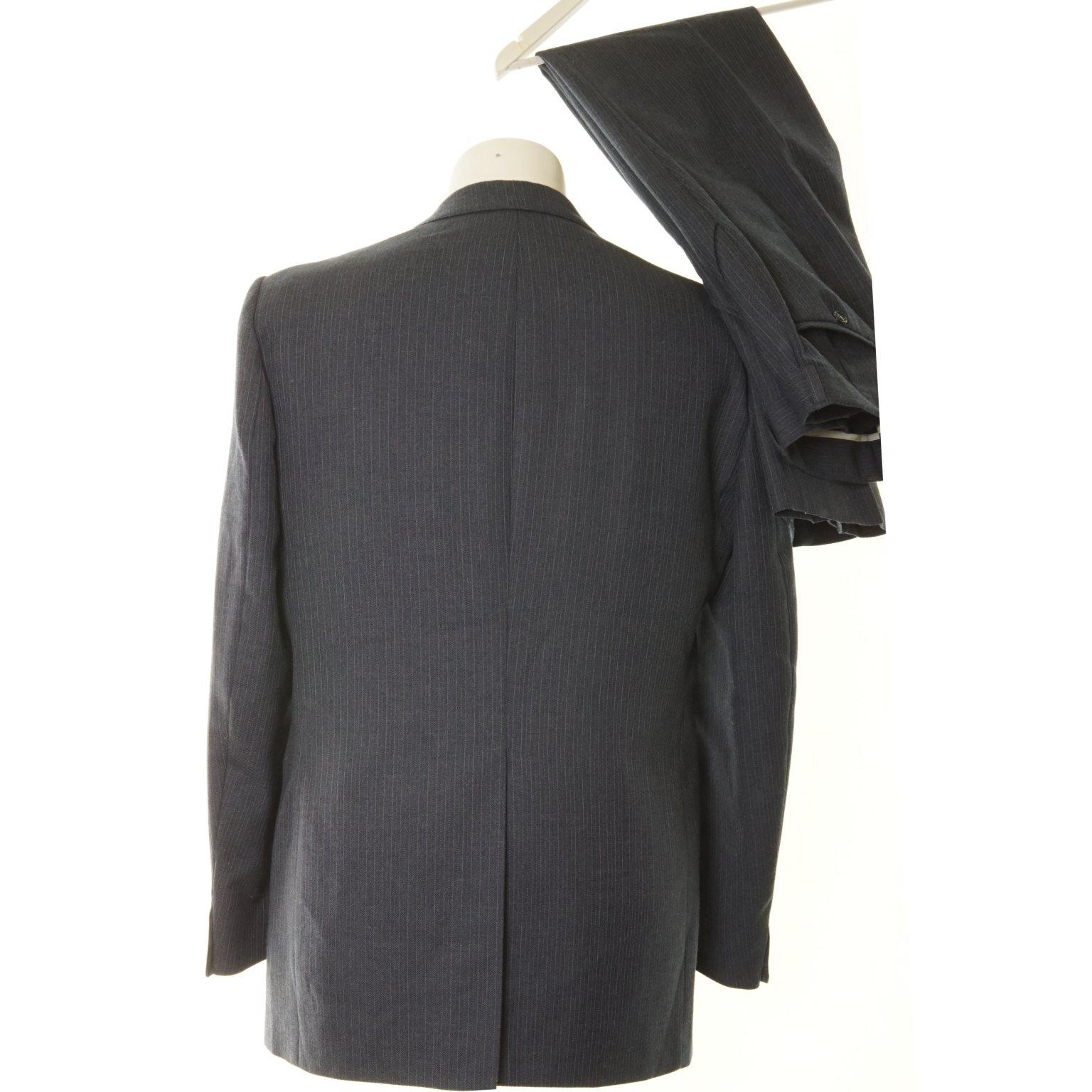 Den Fantastiska Fantastiska Fantastiska Kostymen, Kostym, Strl: 48, Mörkblå, Ull/Polyester 0b1ec9