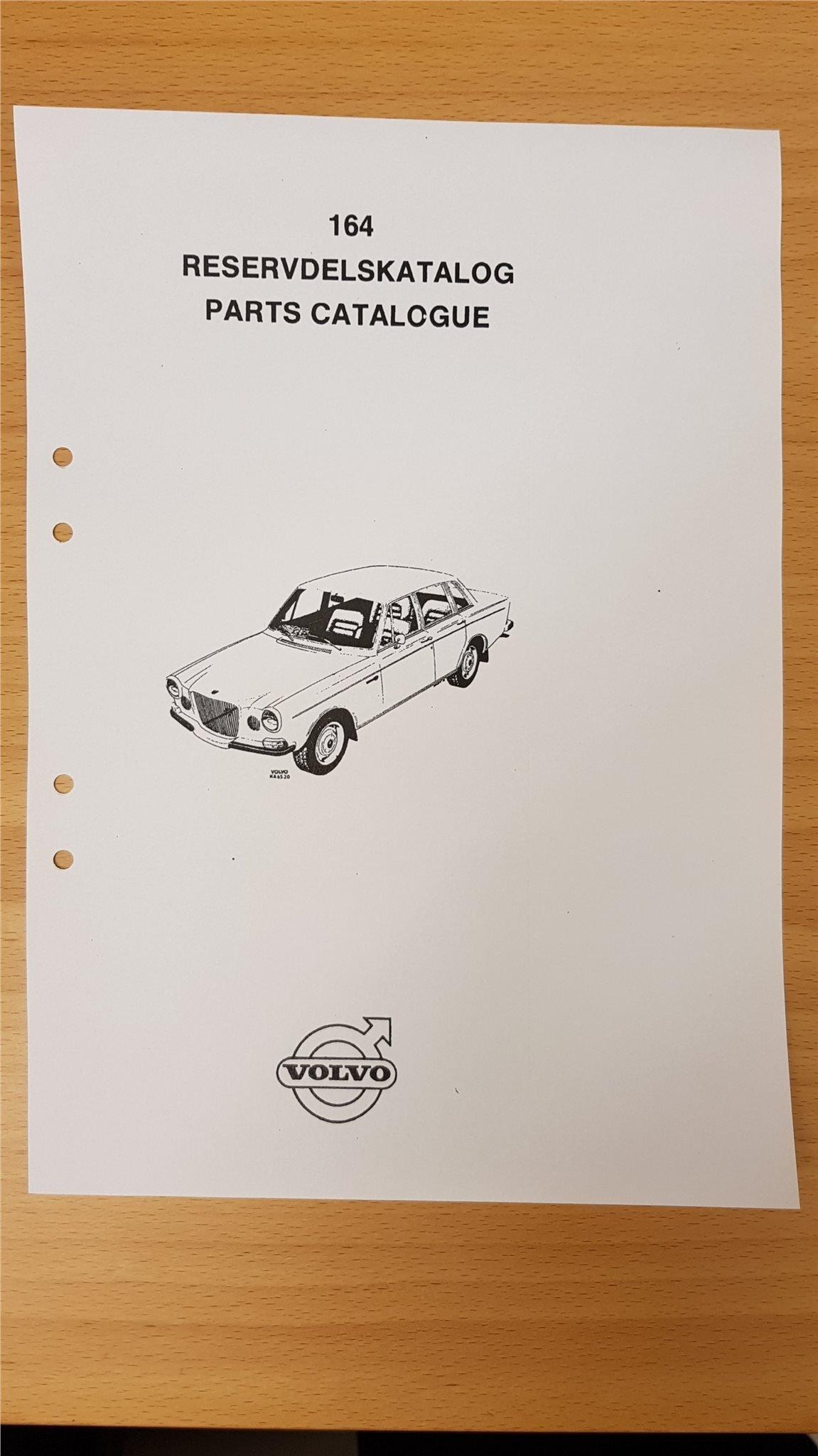 Reservdelskatalog / Parts Catalogue Volvo 164 (348346133) ᐈ Köp på